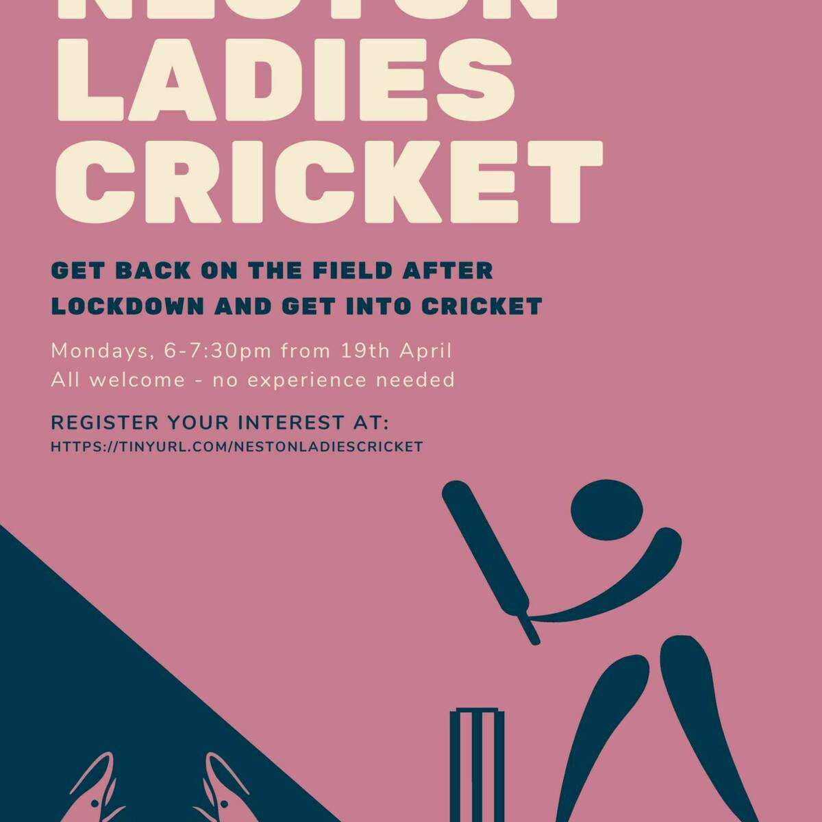 Ladies Cricket Poster page 001